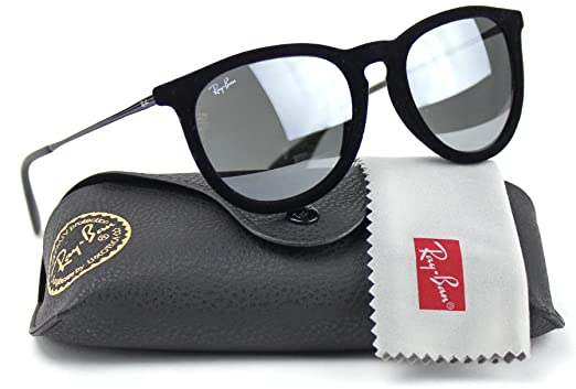 b2f9699b8c Image Unavailable. Image not available for. Color  Ray-Ban RB4171 60756G  Erica Sunglasses Velvet Black Frame   Grey Mirror Lens
