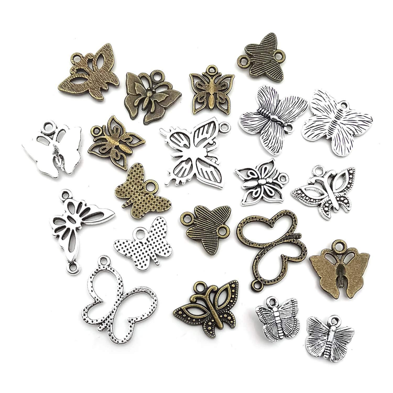 accesorios para hacer joyas collares y pulseras M174 para manualidades 90 colgantes de mariposas para manualidades
