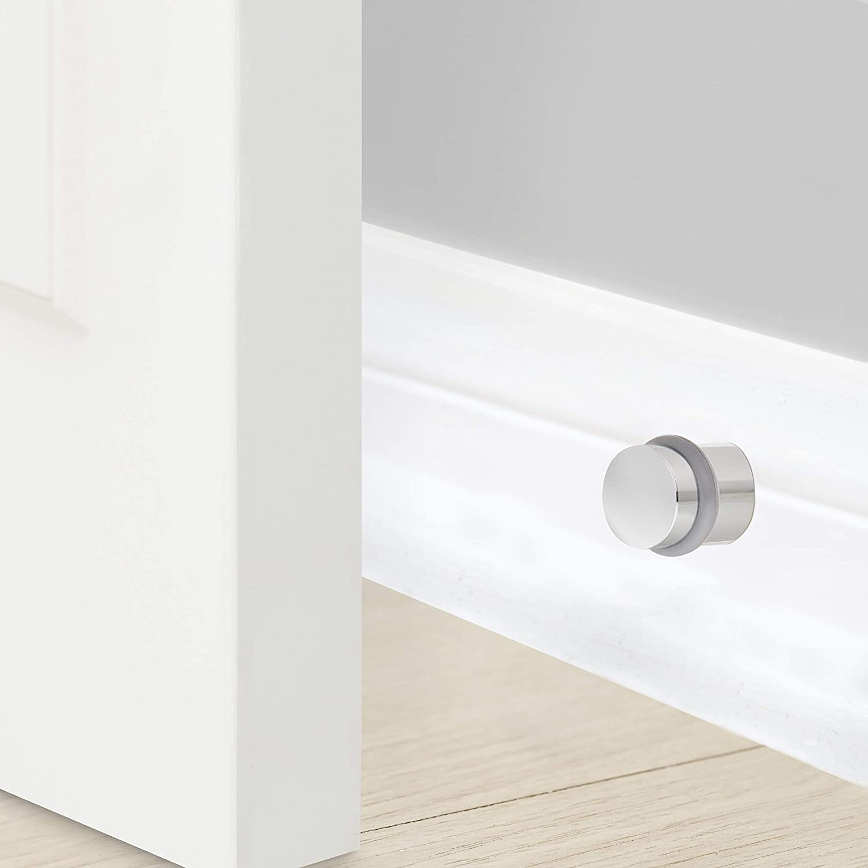 1.18 Diameter Baldwin Estate 4505.260 Modern Floor Bumper in Polished Chrome