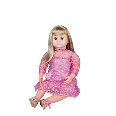 Ask Amy Talking Dolls for 3 Year Old Girls, Interactive Educational Toys for Preschoolers Kids Toddlers Age 3 and Up, Blond Doll Pink Dress: Toys & Games