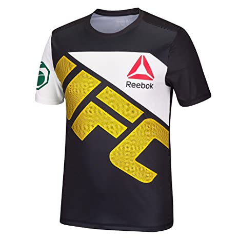 c459f65c958 Image Unavailable. Image not available for. Color  adidas UFC Official  Reebok Black FIght Kit Walkout Black Gold Jersey Men s Large