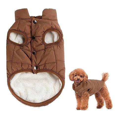 Kismaple Perro Cosy Fleece Jacket Puppy Invierno Ropa de abrigo forrada caliente Chaleco acolchado para perro