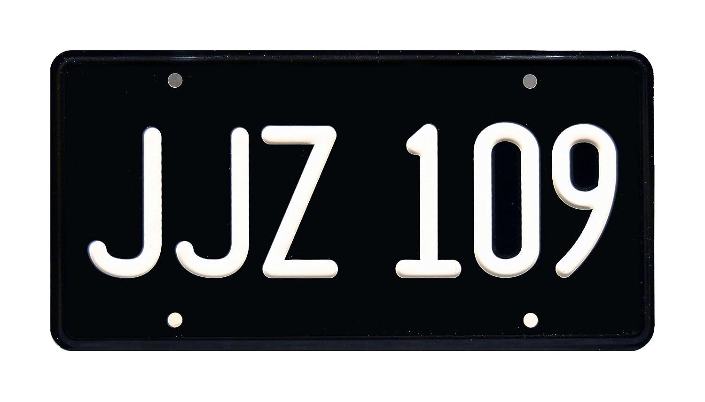 Metal Stamped Vanity Prop License Plate JJZ 109 Celebrity Machines 2018 Bullitt Mustang Commercial Steve McQueen