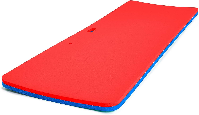 Floatation iQ パーソナル フローティング オアシス - プレミアム フローティング ウォーターパッド/プールマット/ラウンジー - 米国製 耐久性 (PE) 破れにくいフォーム レッド レッド/ ブルー