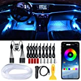 LEDCARE Car LED Strip Lights, RGB Car Interior Lights, 16 Million Colors 9 in 1 with 236 inches Fiber Optic, Ambient Lighting