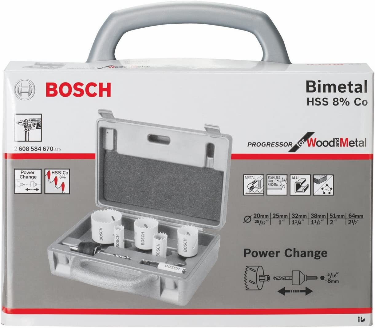 25mm Bosch 2608584620 Progressor Holesaw For Wood and Metal