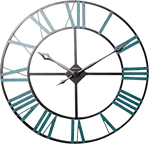 Howard Miller St. Clair Wall Clock 625-574 Oversized Iron Frame with Quartz Movement