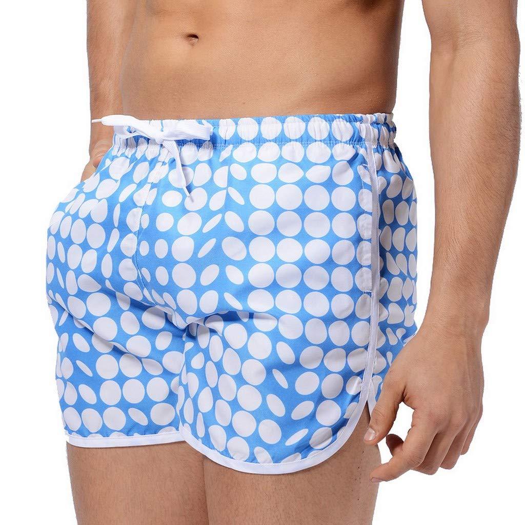 Dazlinea Fashion Mens Breathable Trunks Quick Dry Beach Printed Side Pocker Running Swimming Trunks