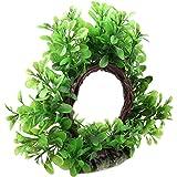 Jardin Plastic Curve Design Fish Tank Aquarium Green Artificial Water Plant Ornament, 6-Inch