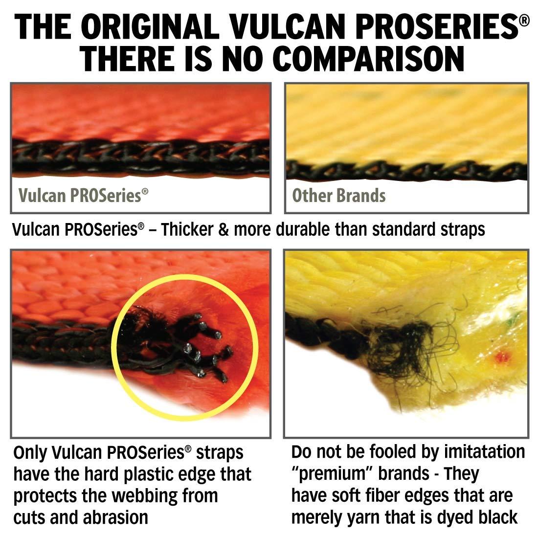 VULCAN ProSeries 96 Lasso Auto Tie Down w//Snap Hooks 4 Pack SWL 3300 lbs