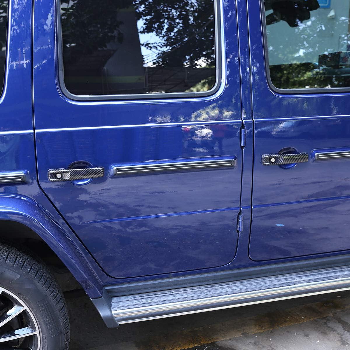 ABS Car Side Door Handle Cover Trim for Mercedes Benz G Class W463 G500 2019-2020 Auto Accessory Carbon Fiber