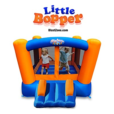 Blast Zone Little Bopper - Inflatable Bounce House with Blower - Indoor/Outdoor - Portable - Sets Up in Seconds: Toys & Games