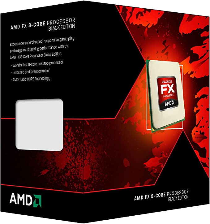 Amazon Com Amd Fx 8 Core Black Edition Fx 8300 3 3 Ghz With 4 2 Ghz Turbo Octa Core Processor Fd8300wmhkbox Computers Accessories