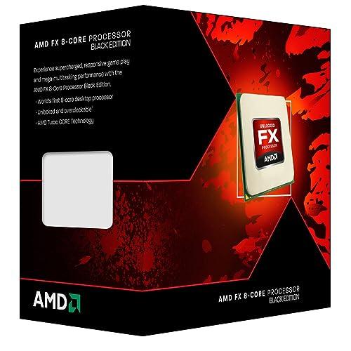 AMD FD8300WMHKBOX CPU Desktop Processor - Black (Vishera 8-Core, 3.3 GHz, Socket AM3+, 95 Watts)