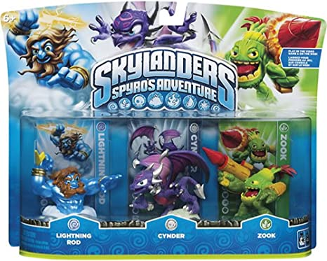 Skylanders Spyros Adventure 3-pack [Lightning Rod, Cynder and Zook]: Amazon.es: Videojuegos