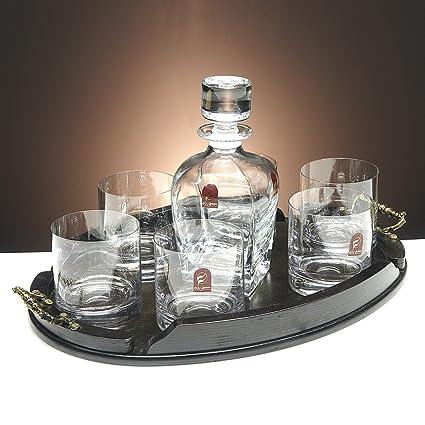 Set/Estuche de 6 Vasos Bajos de Cristal para Whisky o Agua + ...
