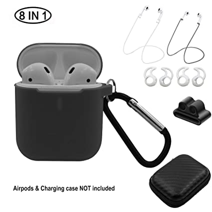 bf6e8c01b99 Airpods case 8 in 1 Accessories Kits Protect Silicone Cover for Apple  Airpods Charging Case with