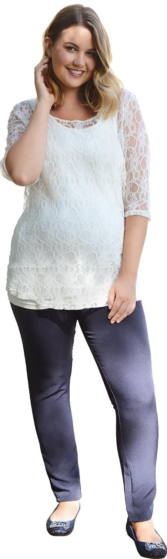 Navy Skinny Leg Maternity Trousers Regular Leg in UK Size 8 10 12 14 16 18 20 22 24 26 28 Plus Size