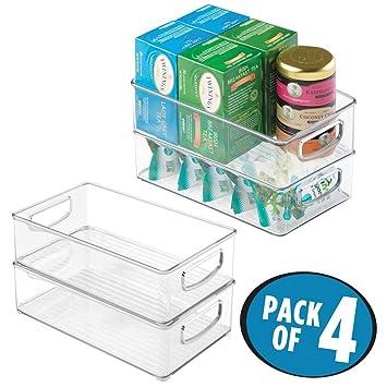 mDesign 4er-Set Küchen Organizer – praktische Aufbewahrungsbox für ...