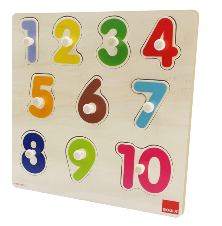 goula puzzle números piezas de madera diset 53074 puzzle numeros