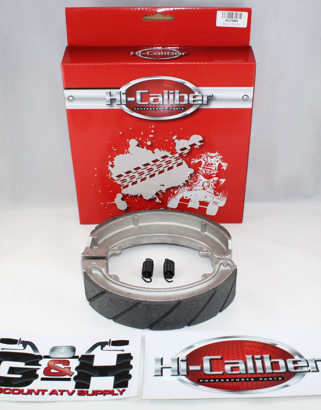 WATER GROOVED REAR BRAKE SHOES & SPRINGS 1988-2000 Honda TRX 300 2x4 4x4 Fourtrax by Hi-Caliber Powersports Parts (Image #2)