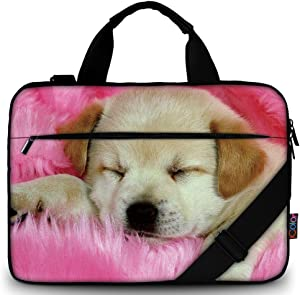 iColor Dog Canvas Laptop Carrying Shoulder Sleeve Case Protective Bag Briefcase for 11.6 12 12.9 13 13.3 Inches Laptop Ultrabook Netbook CSH-03
