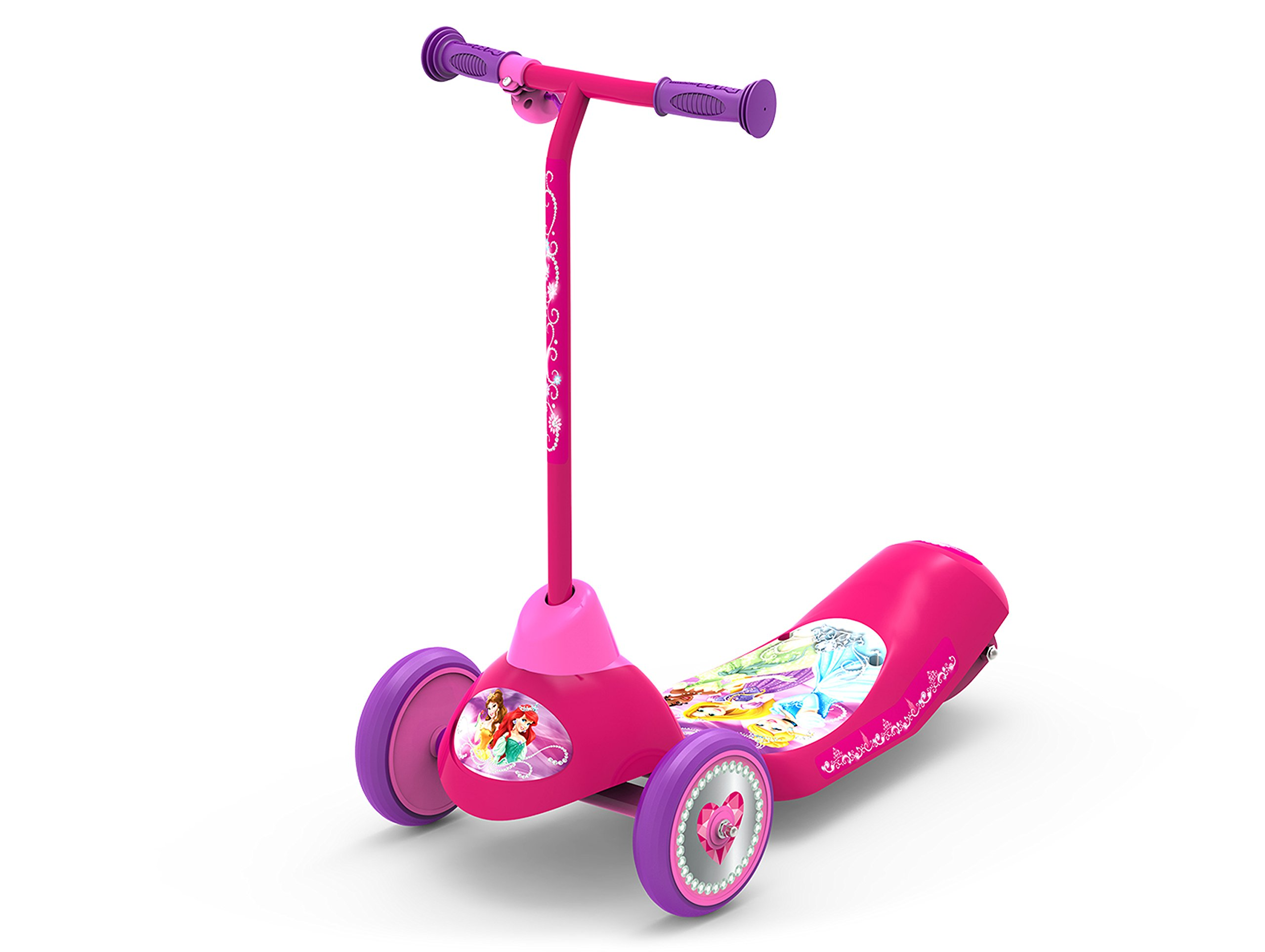 Pulse Performance Products Disney Princess Safe Start 3-Wheel Electric Scooter