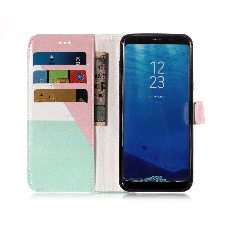 Huphant Compatible for Samsung S8 H/ülle Samsung Galaxy S8 Handy H/ülle Marble Schwarz Flip Schutzh/ülle Wallet Case f/ür Samsung Galaxy S8 Kartenf/ächer Magnet Flip Wallet Case Farbe Schmetterling
