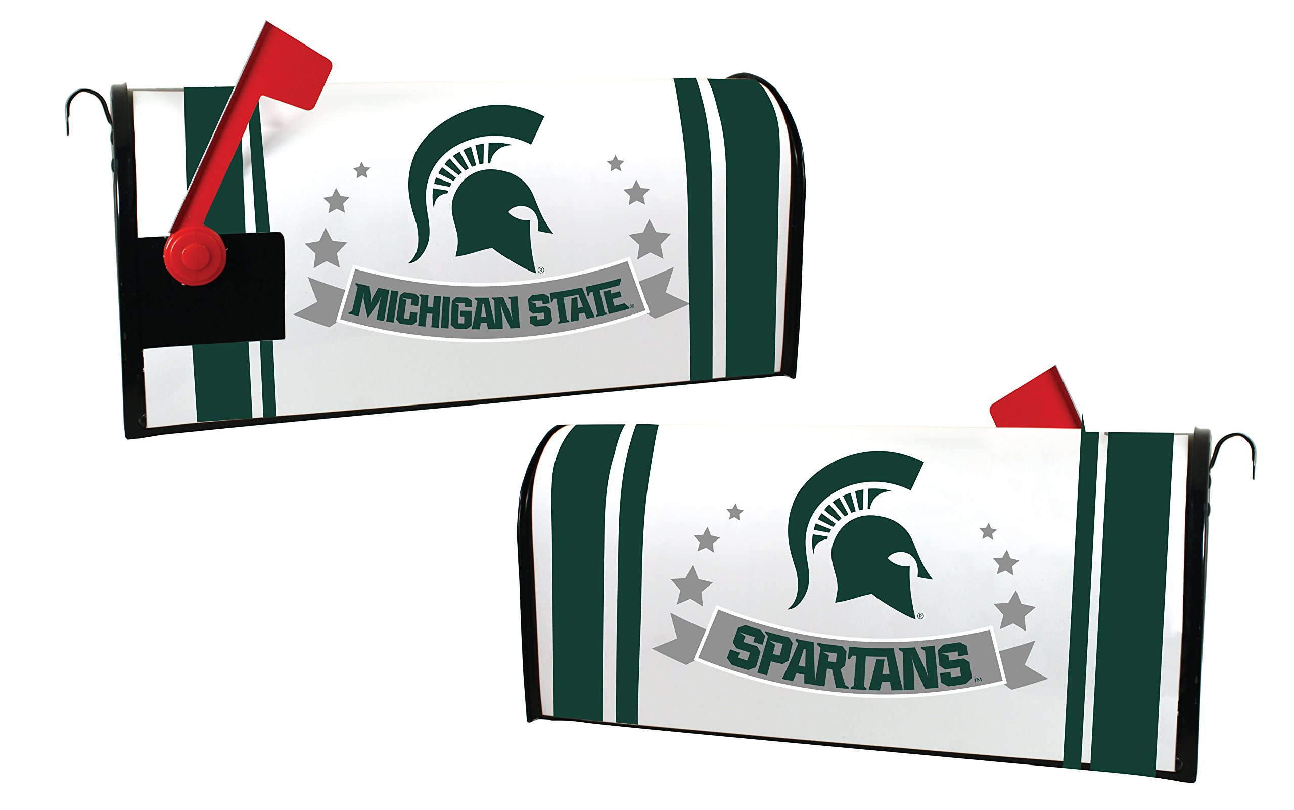MICHIGAN STATE SPARTANS MAILBOX COVER-MICHIGAN STATE MAGNETIC MAIL BOX COVER-NEW FOR 2016!