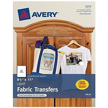 Avery 3275 Iron-On Light Fabric Transfers