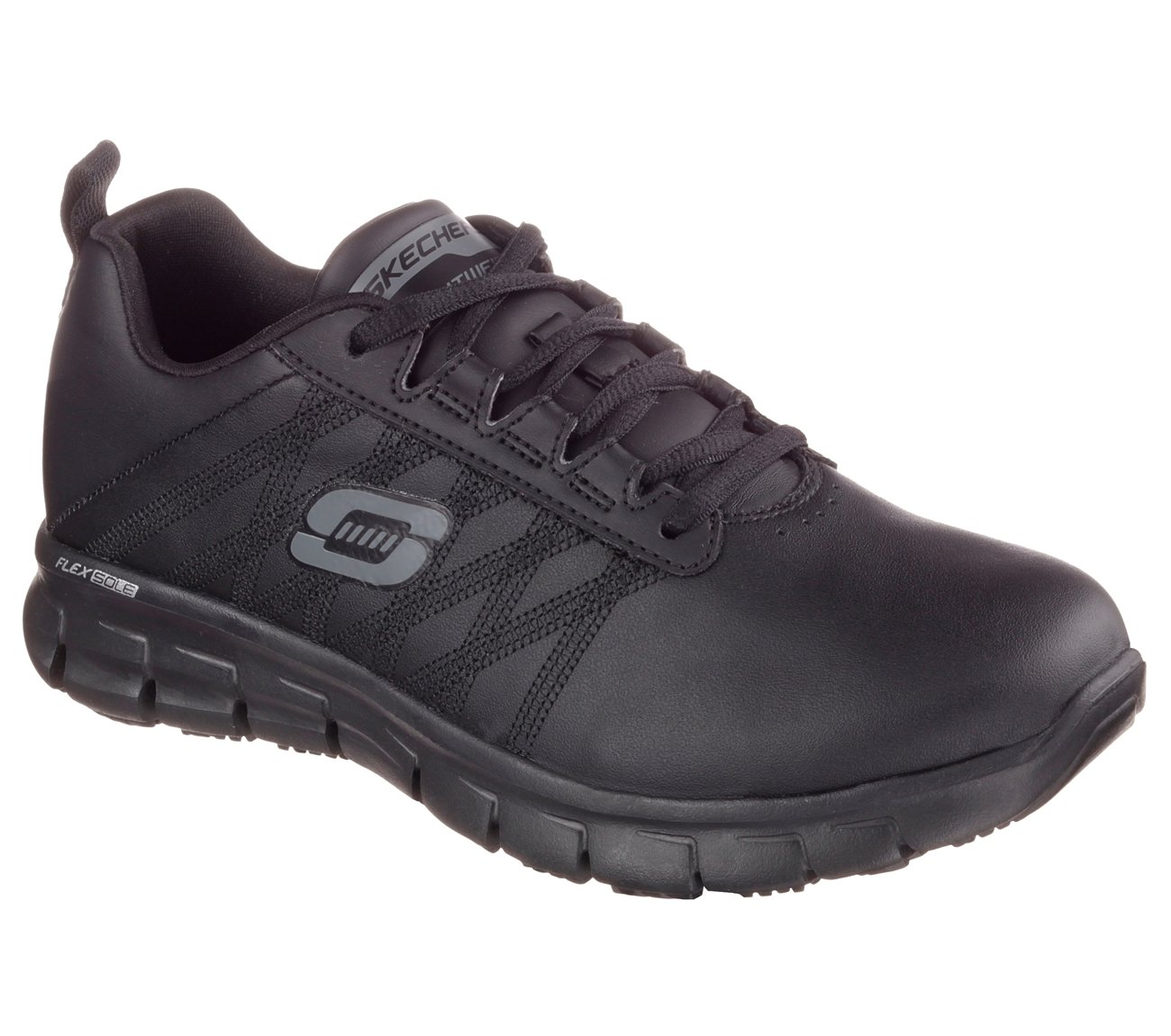 Skechers Work Relaxed Fit Sure Track Erath SR Womens Sneakers Black 6.5 W