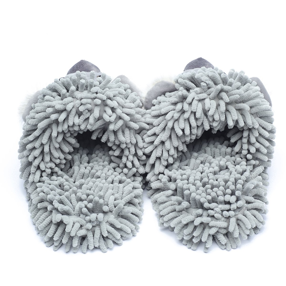 Ofoot Winter Warm Plush Anti-slip Indoor Animal Slippers for Women and Men (M/L 8-10 B(M) US, Grey(Koala)) by Ofoot (Image #3)