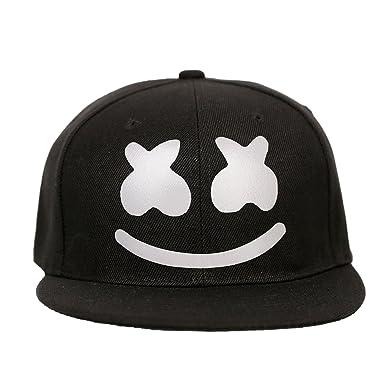 PandaCos Marshmello Gorra de Beisbol Luminoso para Hombres Jóvenes Gorra Estampada Negro Poliéster para DJ Fans Concierto: Amazon.es: Ropa y accesorios