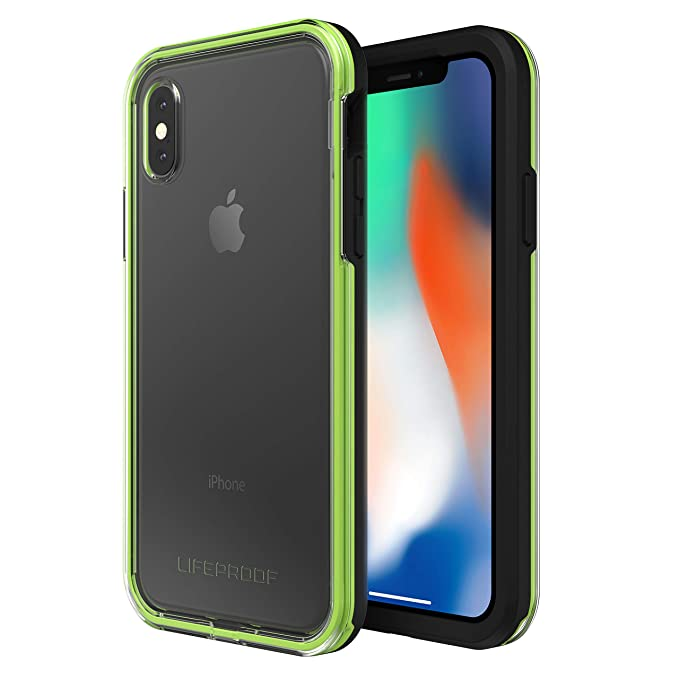 premium selection 07add bc1e7 Lifeproof SLAM Series Case for iPhone X (ONLY) - Retail Packaging - Night  Flash (Clear/Lime/Black)