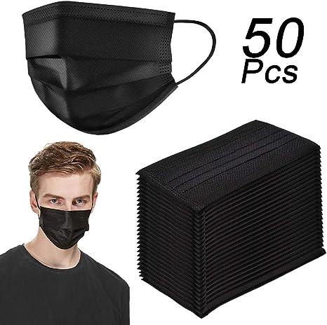 masque bouche jetable noir