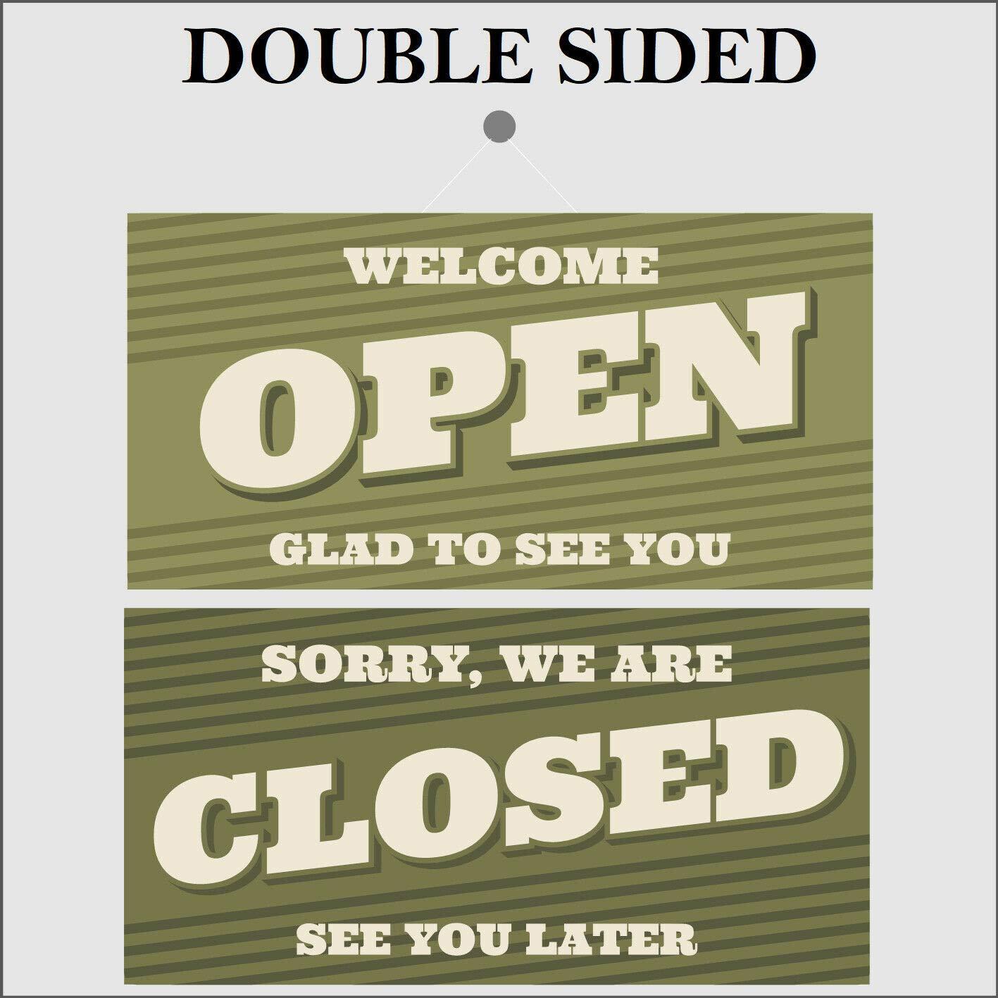 Cartel de doble cara retro abierto y cerrado 9499 Shop Cafe ...
