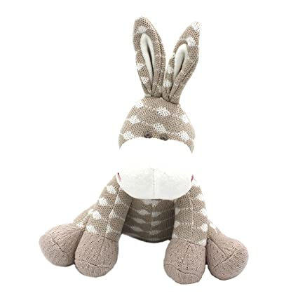 Kiyi-Gift Bebé Juguete | adorable Juguete de Peluche de Burro | Algodón Orgánico Suave
