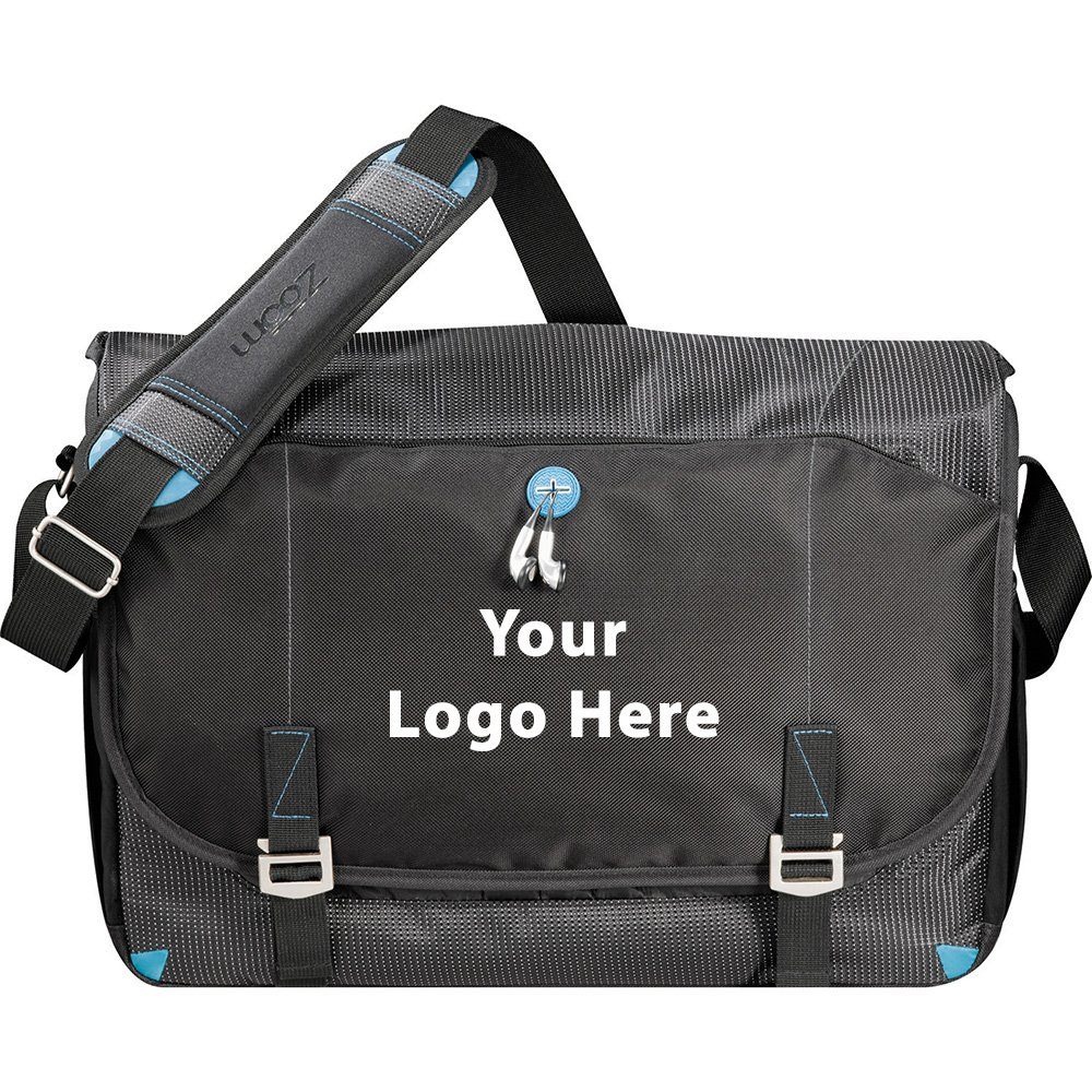 Zoom TSA 17'' Computer Messenger Bag - 12 Quantity - $46.00 Each - PROMOTIONAL PRODUCT / BULK / BRANDED with YOUR LOGO / CUSTOMIZED