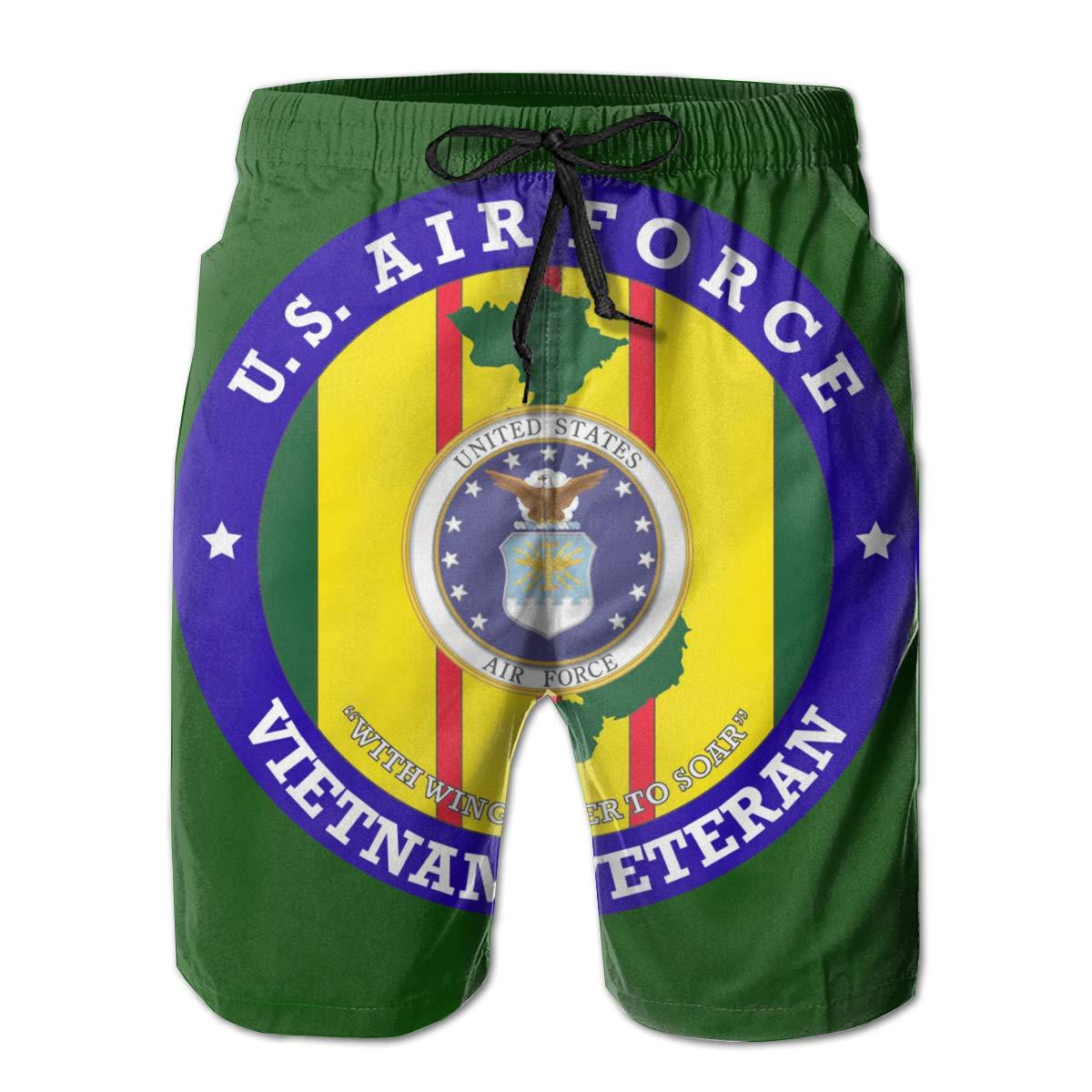 Air Force Vietnam Veteran Mens Board Shorts,Casual Shorts,Beach Shorts Summer Boardshorts QKQ77 KK7 U.S