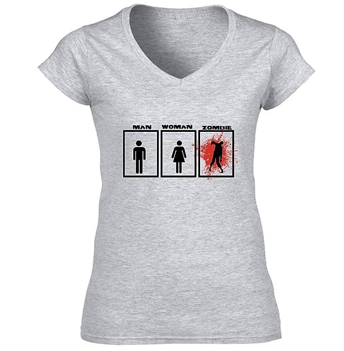 Teesquare1st ZOMBIE MAN WOMAN Camiseta para mujer de algodon: Amazon.es: Ropa y accesorios