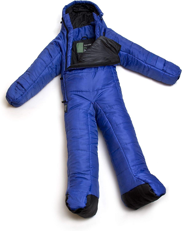 Selkbag Saco de Dormir Unisex con Brazos y piernas Color Oscuro