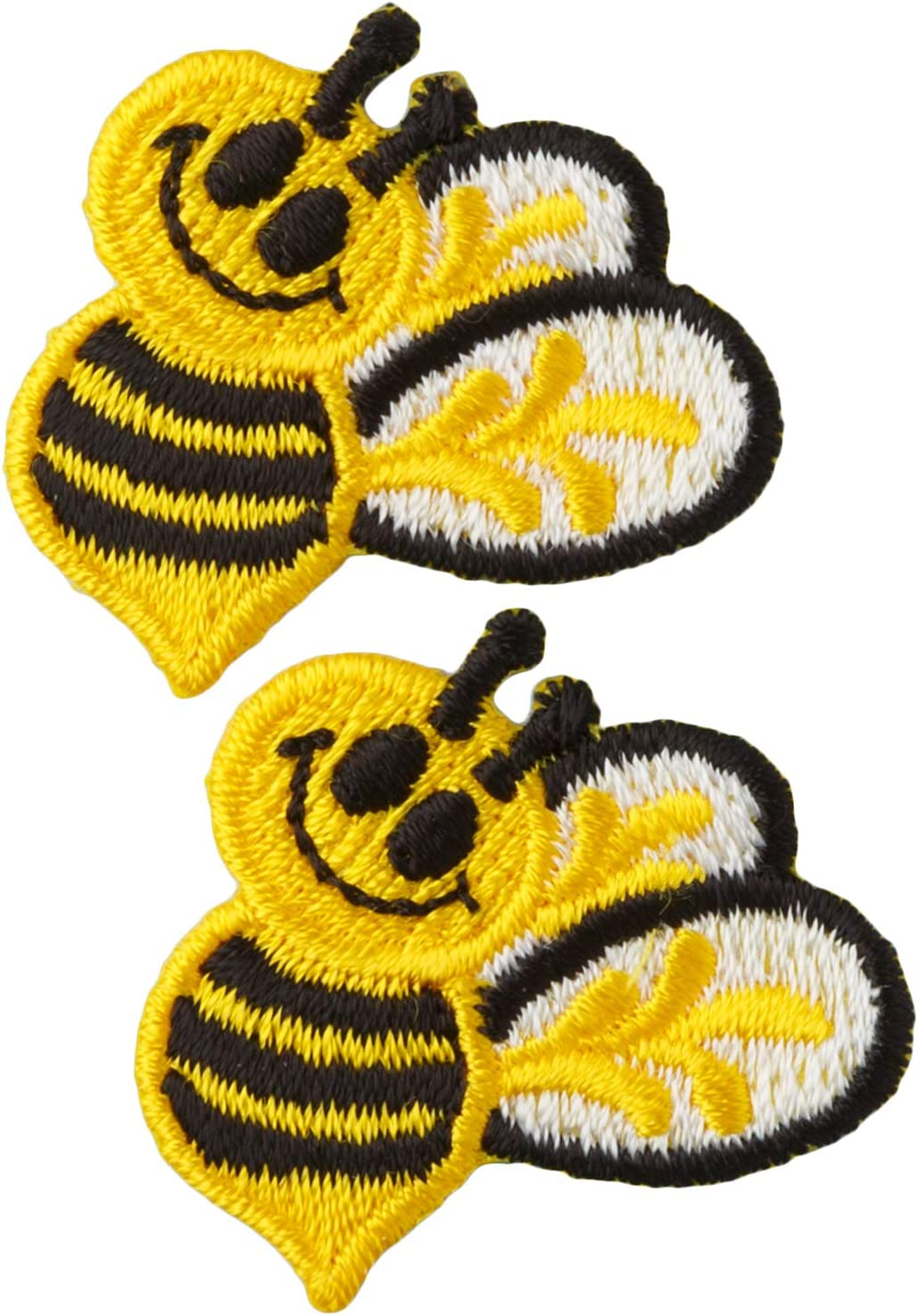 """3//4/"""" Blue Bumble Bee Embroidery patch iron on sew on Lot of 4"""