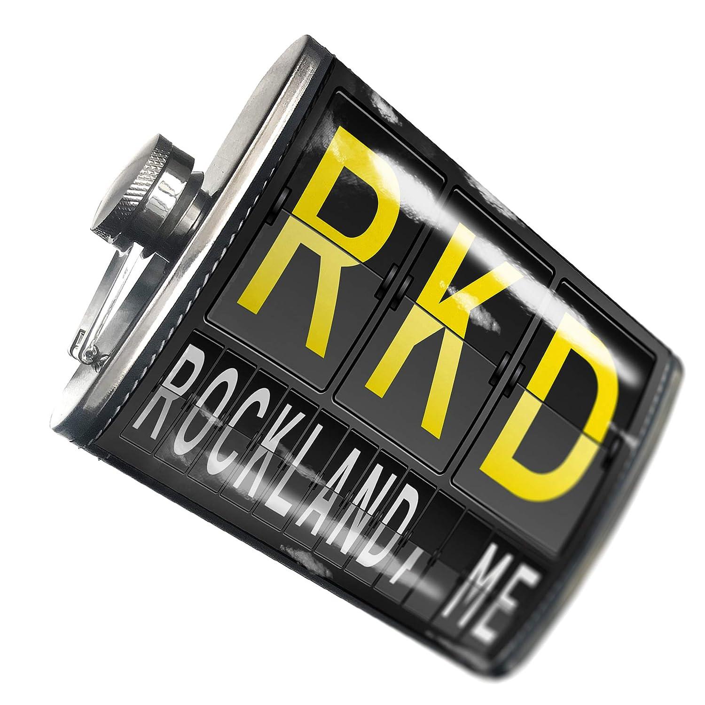 8オンスフラスコステッチRKD Rocklandの空港コード、Meステンレススチール – Neonblond   B00QQVGD5I