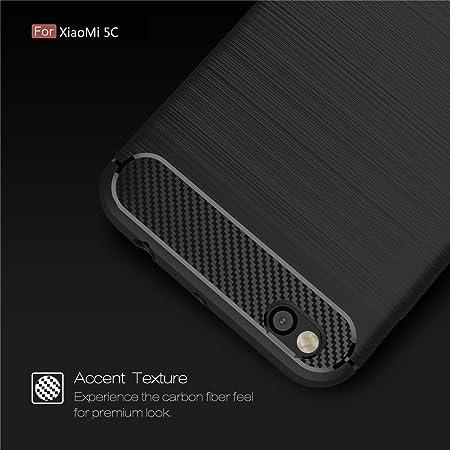 GIM Xiaomi Mi 5C Funda Protectiva Carcasa de Silicona de gel TPU, Ultra delgada Fibra de Carbono Funda Case Cover para Xiaomi Mi 5C Carcasa (5,15 Pulgadas) Silicona Funda Case: Amazon.es: Electrónica