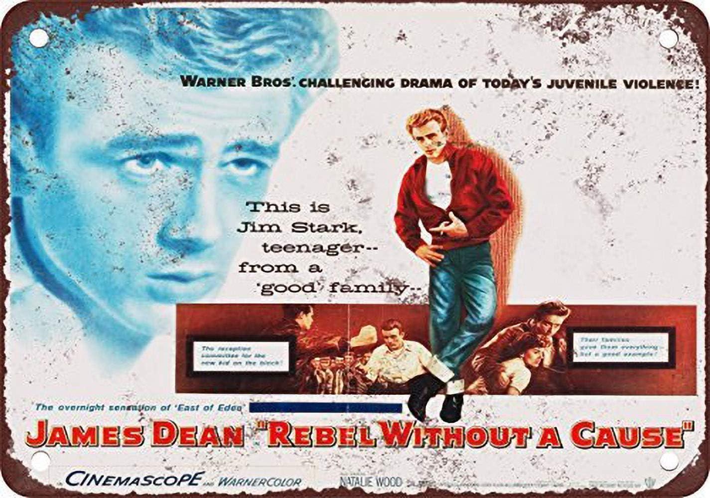 JAMES DEAN VINTAGE FILM STAR METAL TIN SIGN POSTER WALL PLAQUE