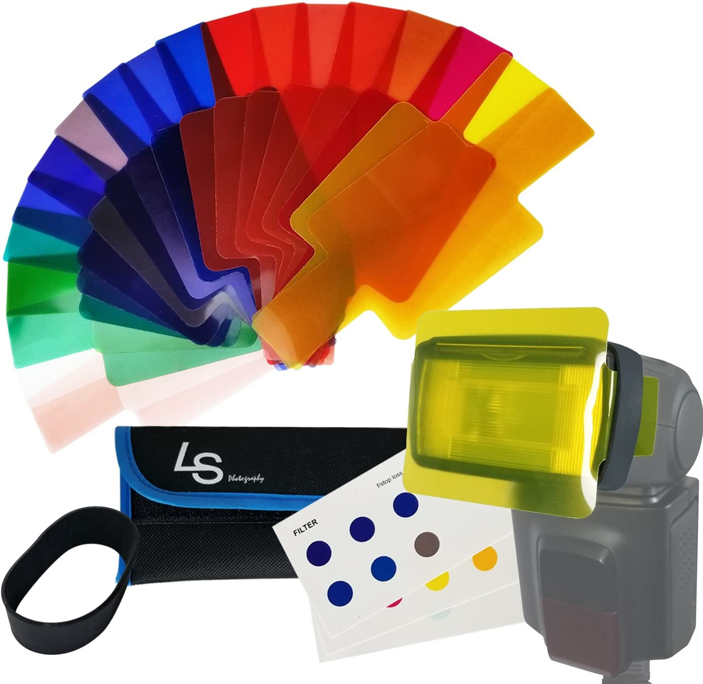 11colors Flash Light Lighting Gel Filter Photo Color Correction Transmission