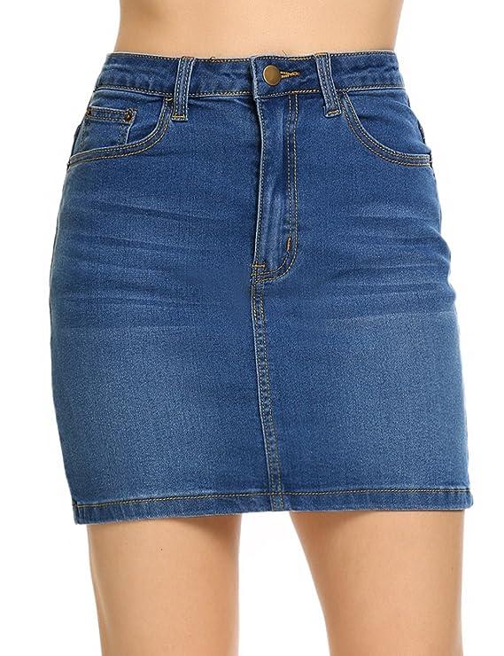 Shine - Mini falda elástica para mujerhttps://amzn.to/2Tlmzjr