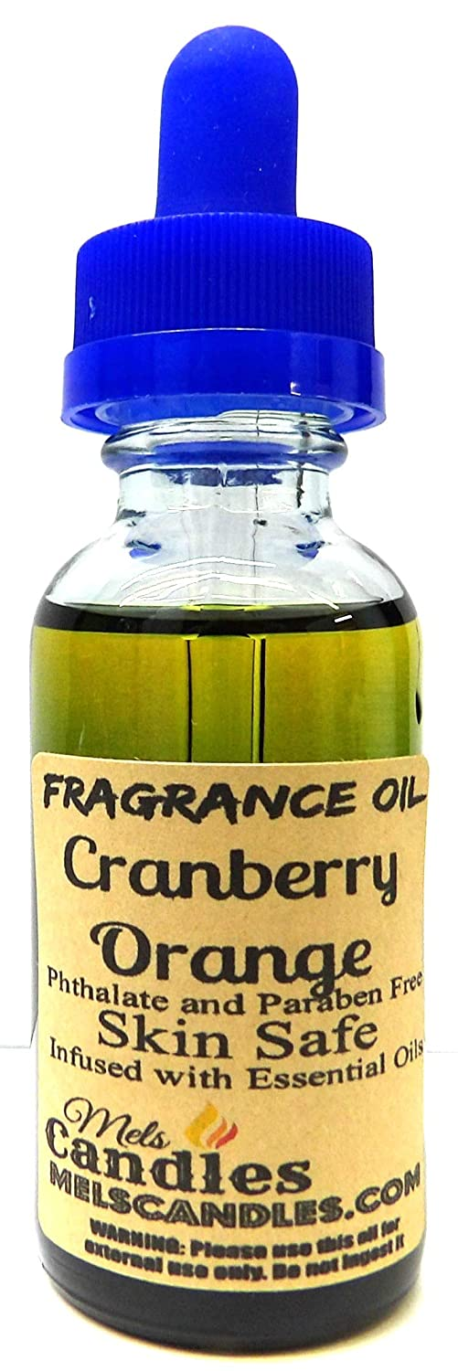 Cranberry Orange - 1oz / 29.5 ml Blue Glass Bottle - Fragrance Oil Infused with Essential Oil,Skin Safe Oil, Candles, Lotions Soap & More