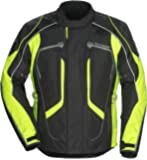 Tourmaster Advanced Men's Textile Motorcycle Jacket (Black/Hi-Viz, Large)