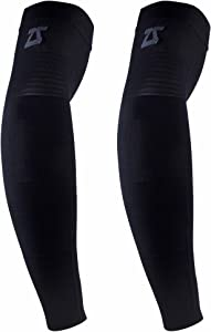 Zensah Ultra Compression Arm Sleeves (Pair) - Men's and Women's Performance Arm Sleeves for Basketball, Baseball, Running and Sun Protection